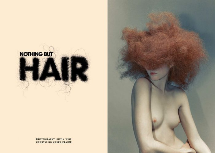 nothing but hair . justin winz